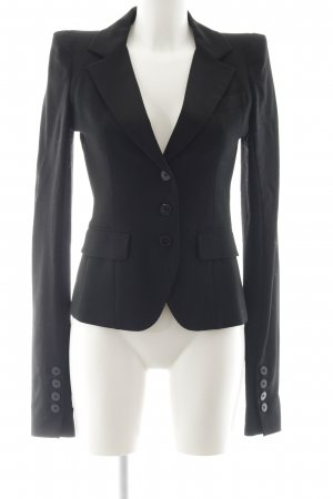 Patrizia Pepe Jersey blazer zwart zakelijke stijl