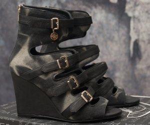 Patrizia Pepe Platform Sandals black-grey