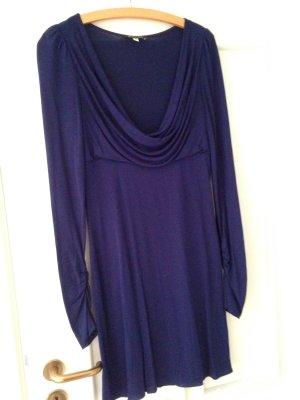 Patrizia Pepe Kleid blau Gr.36, Wasserfallausschnitt