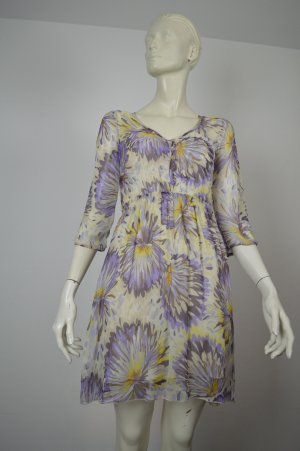 Patrizia Pepe Kleid Gr. 34/36 in Lila Mehrfarbig Floral gemustert