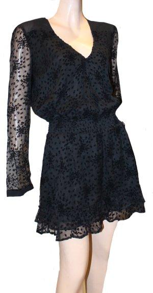 PATRIZIA PEPE Kleid schwarz Spitze Gr. 36/38