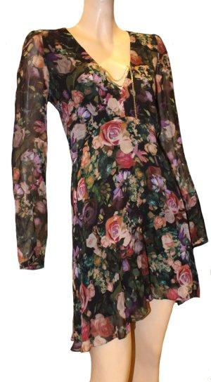 PATRIZIA PEPE Kleid Tüll Blumen Gr. 38