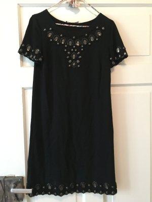 Patrizia Pepe kleines Schwarzes Kleid mit Schmucksteinen