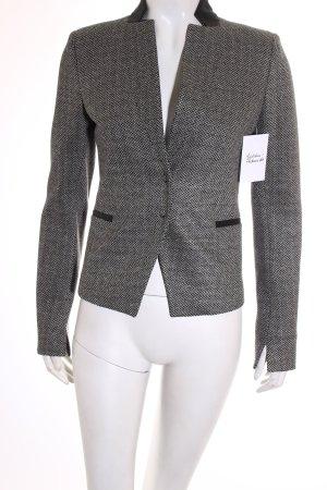 Patrizia Pepe Kurz-Blazer schwarz-weiß grafisches Muster Business-Look