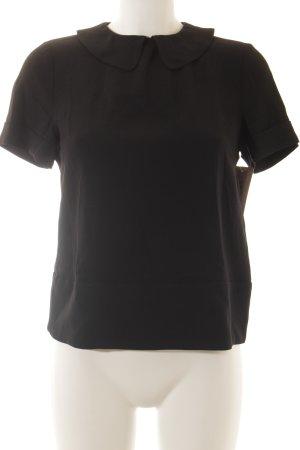 Patrizia Pepe Kurzarm-Bluse schwarz Elegant