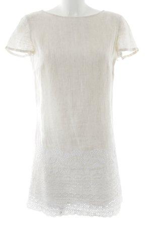 Patrizia Pepe Kurzarmkleid creme-weiß schlichter Stil