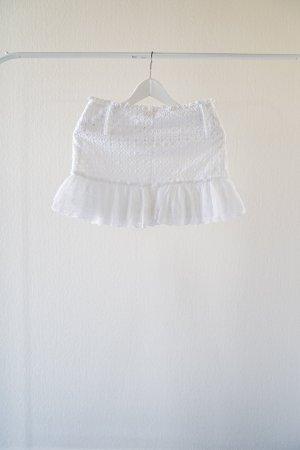Patrizia Pepe Jupe en dentelle blanc tissu mixte