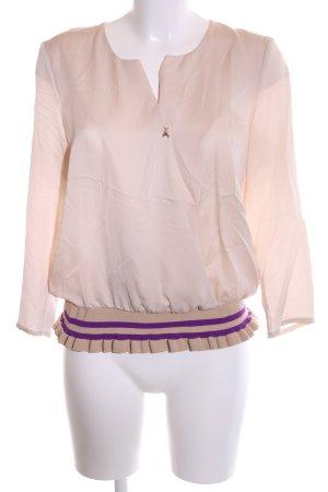 Patrizia Pepe Langarm-Bluse creme-lila Business-Look