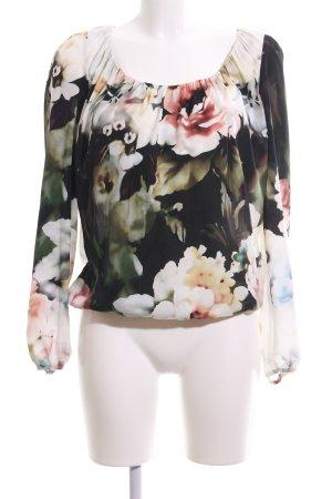 Patrizia Pepe Langarm-Bluse Blumenmuster Casual-Look