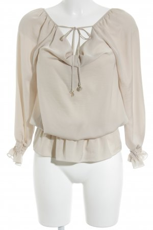 Patrizia Pepe Langarm-Bluse beige Elegant