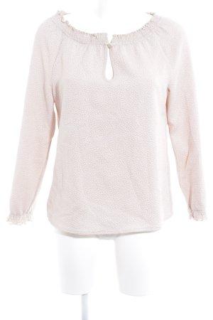 Patrizia Pepe Langarm-Bluse beige-hellbeige Punktemuster Casual-Look