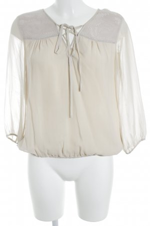 Patrizia Pepe Langarm-Bluse creme Romantik-Look