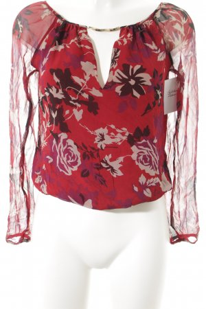 Patrizia Pepe Langarm-Bluse florales Muster Casual-Look