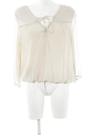Patrizia Pepe Langarm-Bluse hellbeige schlichter Stil