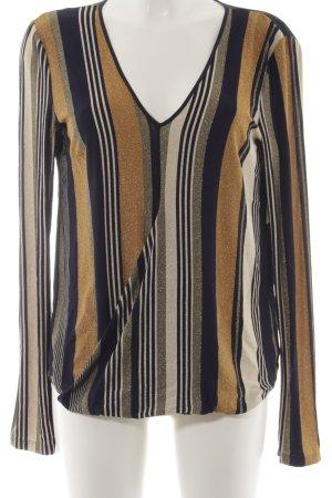 Patrizia Pepe Langarm-Bluse Streifenmuster Elegant