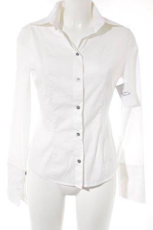 Patrizia Pepe Camisa de manga larga blanco puro estilo «business»