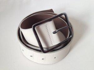 Patrizia Pepe Cinturón de cadera blanco Cuero