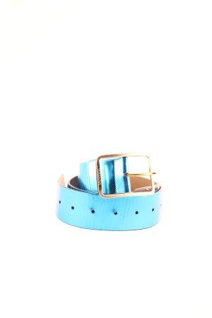 Patrizia Pepe Ledergürtel blau extravaganter Stil