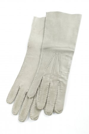 Patrizia Pepe Leather Gloves green grey-grey Brit look
