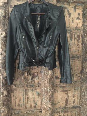 Patrizia Pepe Leather Jacket black