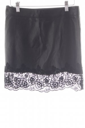 Patrizia Pepe Leren rok zwart feest stijl