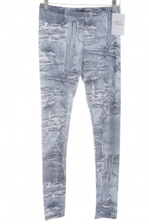 Patrizia Pepe Leggings steel blue-white abstract print athletic style