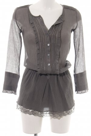 Patrizia Pepe Long-Bluse braun Casual-Look