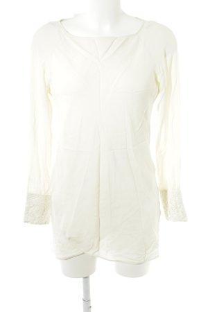 Patrizia Pepe Long-Bluse hellgelb-weiß Elegant