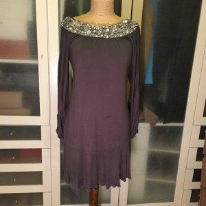 Patrizia Pepe Long Kleid mit Pailletten Gr. 40 top Zustand