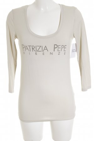 Patrizia Pepe Longsleeve creme Casual-Look