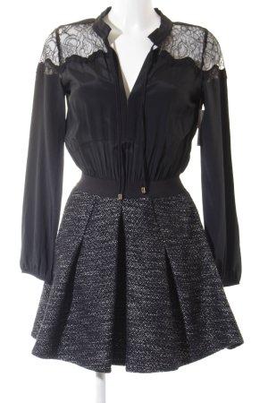 Patrizia Pepe Minikleid schwarz-dunkelgrau meliert Elegant