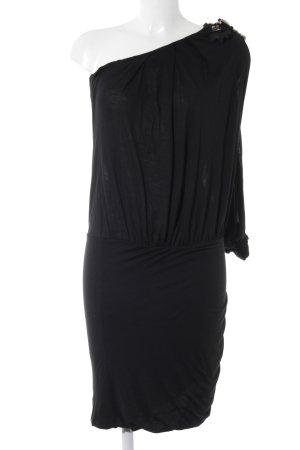 Patrizia Pepe Vestido de un hombro negro estilo fiesta