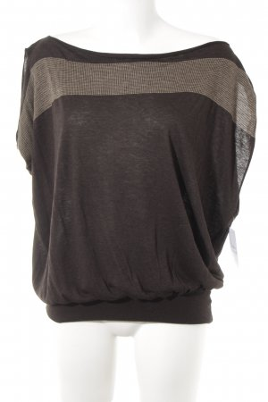 Patrizia Pepe Oversized Shirt dark brown-light brown mixed pattern casual look