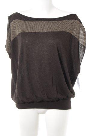 Patrizia Pepe Oversized Shirt dunkelbraun-hellbraun Mustermix Casual-Look