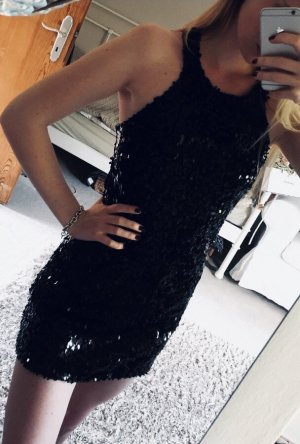 Patrizia Pepe Pailletten Mini Kleid