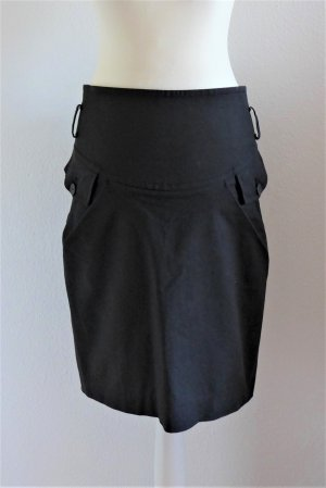 Patrizia Pepe Pencil Skirt Bleistiftrock Highwaist Stretch schwarz Gr. 36 S (ital. 42)