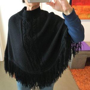 Patrizia Pepe Knitted Poncho black mixture fibre
