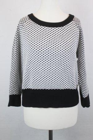 PATRIZIA PEPE Pullover Strickpullover Strick Gr. S schwarz weiß (E/R/SC)