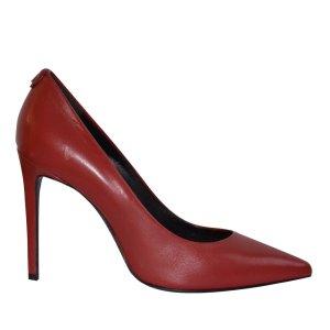 Patrizia Pepe Pumps aus Leder in rot, Absatz 10 cm, Gr. 39