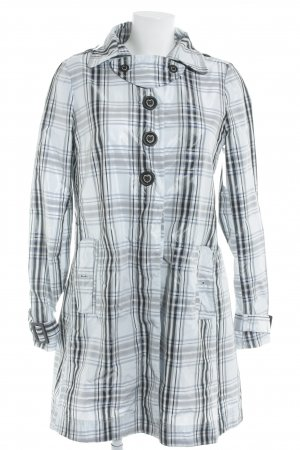 Patrizia Pepe Heavy Raincoat check pattern casual look