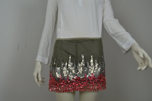 Patrizia Pepe Rock Gr. 1 (34/36) Skirt Pailletten grün