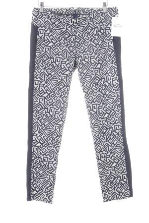 Patrizia Pepe Röhrenhose dunkelblau-hellgrau abstraktes Muster sportlicher Stil