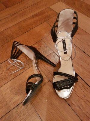 Patrizia Pepe Sandalo con cinturino nero-argento Pelle