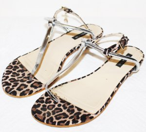 Patrizia Pepe Toe-Post sandals brown-beige leather