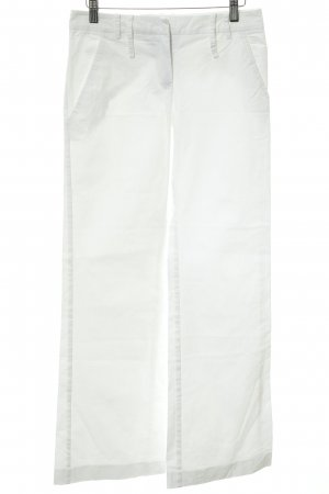 Patrizia Pepe Pantalón de campana blanco estilo sencillo