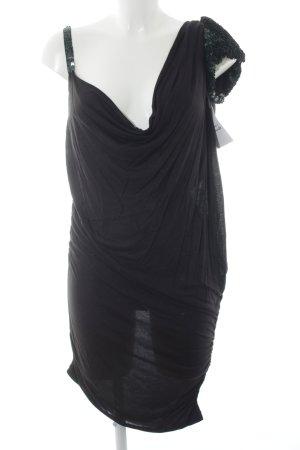 Patrizia Pepe Vestido de tubo negro-verde oscuro estilo extravagante