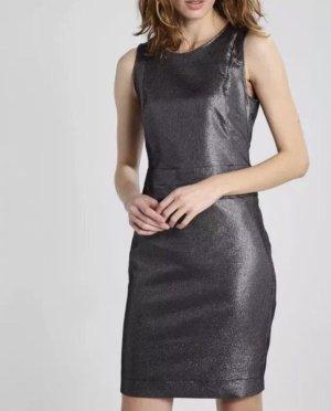 PATRIZIA PEPE SERA Abito Dress Kleid Etuikleid Abendkleid | anthrazit / silber | Größe 38 / ital. 44