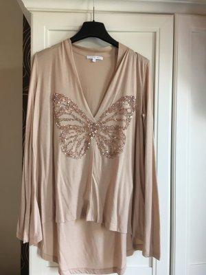 Patricia Pepe V-hals shirt beige-camel Gemengd weefsel