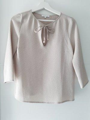 PATRIZIA PEPE Shirt, 3/4Arm, beige, Stukturstoff mit Bindeschleife