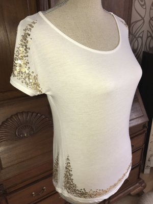 Patrizia Pepe Shirt Top Pailletten Gold